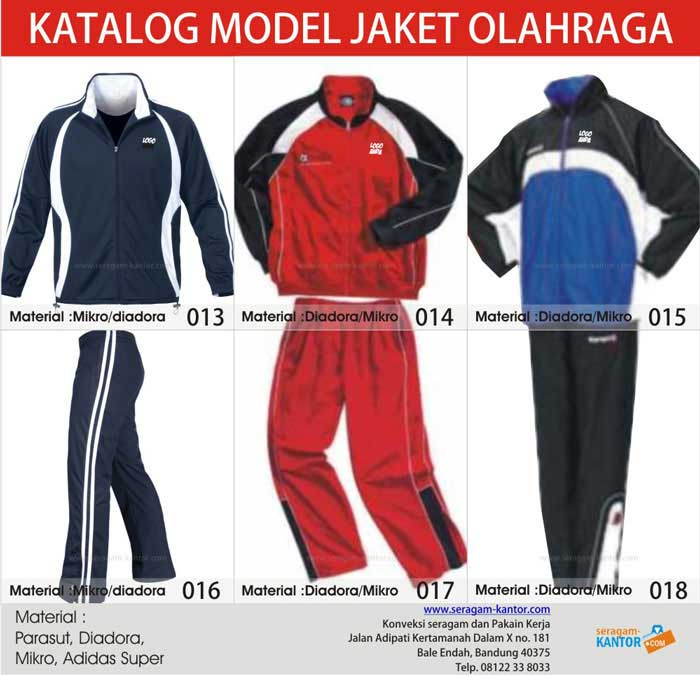 Jaket Training Olahraga - Konveksi Seragam Kantor ...